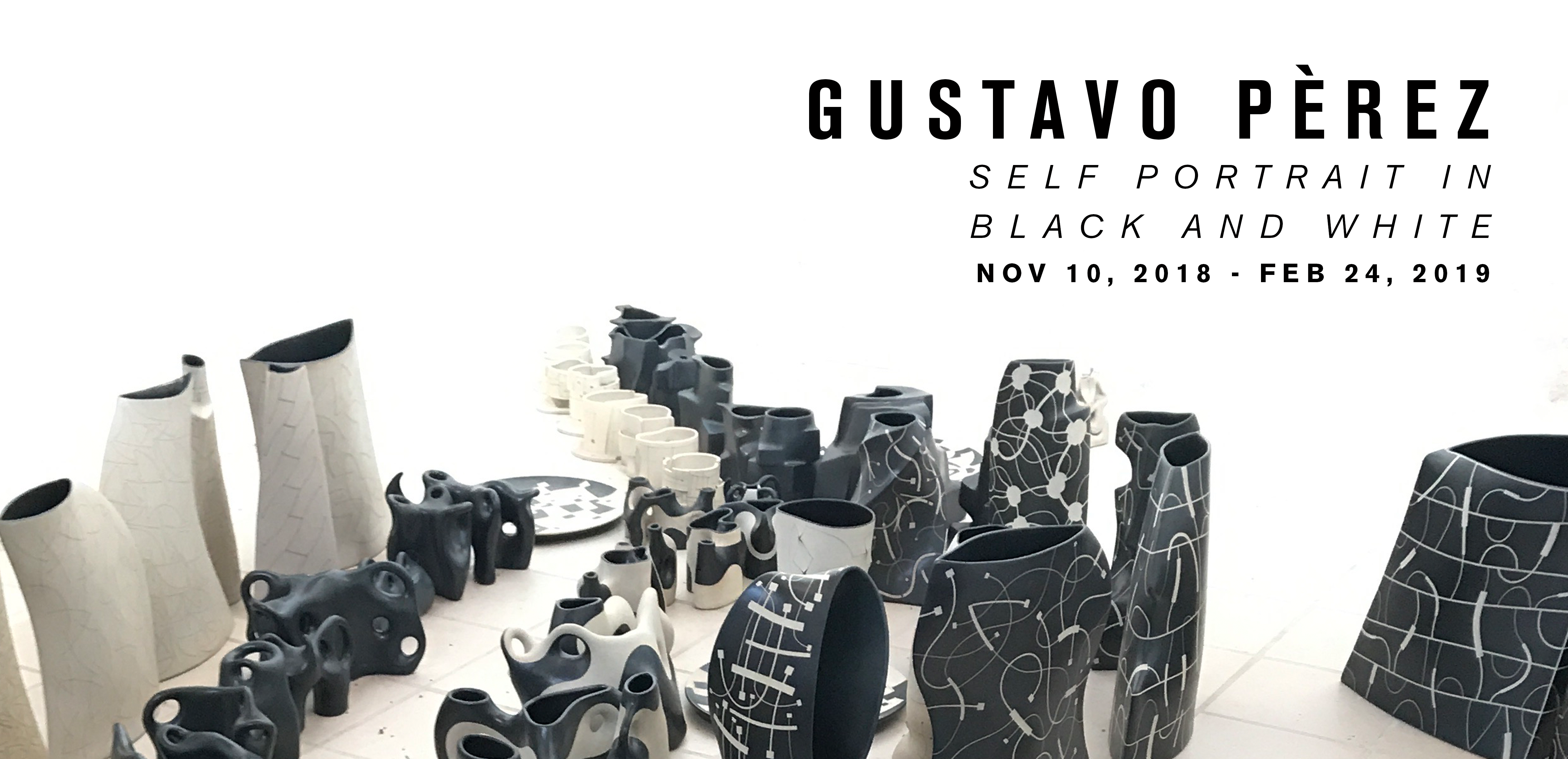 Gustavo Perez: Self Portrait in Black and White at the Museum of Craft and Design