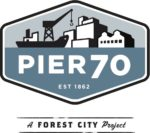 Pier 70 logo with tag vector