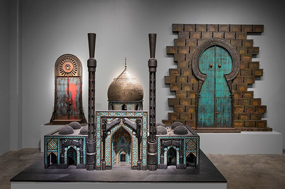 Bombed-Mosque-2010-Guns-gun-parts-bullets-shell-casings-lead-pellets-steel-40-x-56-x-34-¼-inches-Collection-of-Crocker-Art-Museum-Sacramento-.jpg