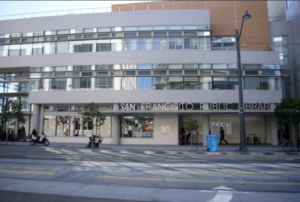 Exterior view of Mission Bay Branch public library.