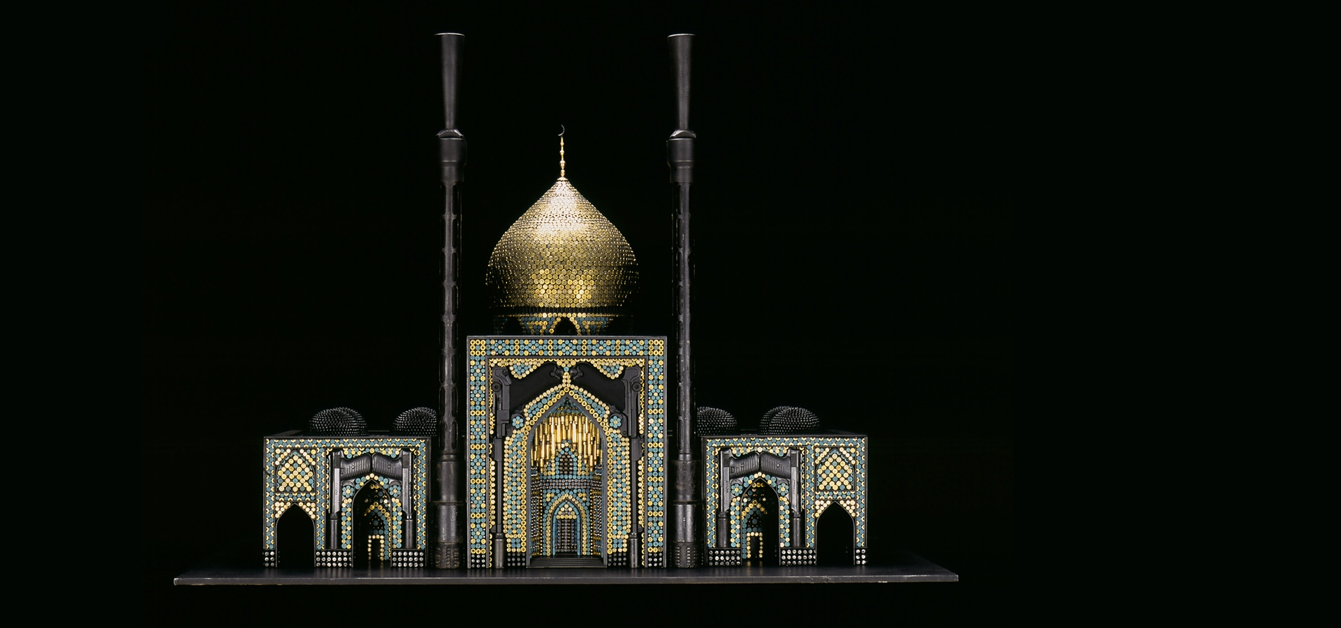 Mosque built out of bullets and casings