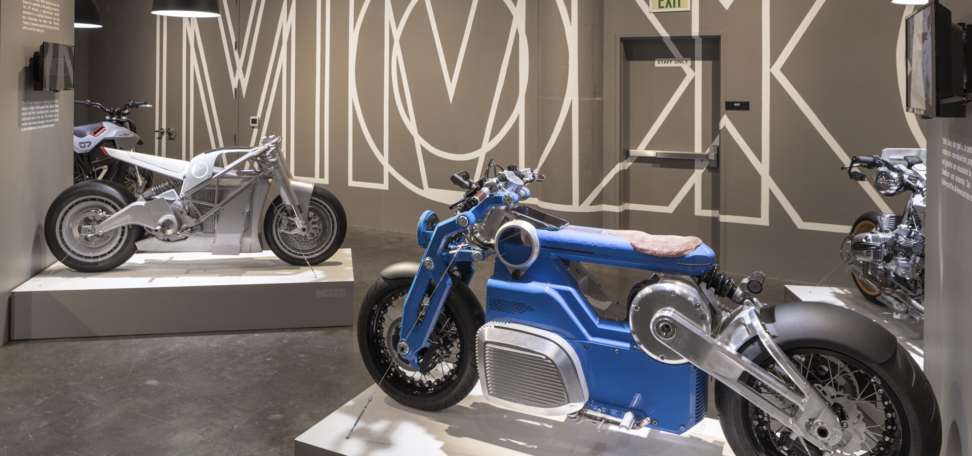 Photos of the motorcycle exhibition called MOTO MMXX