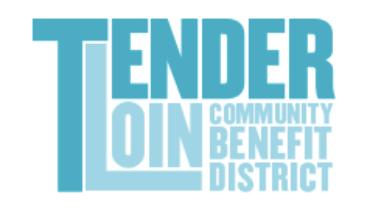 Tenderloin Community Benefit District text logo