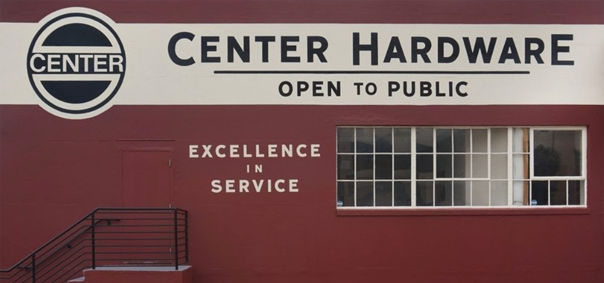 Red building of Center Hardware